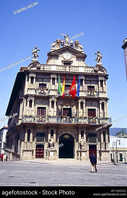 City hall. Pamplona, Navarra, Spain