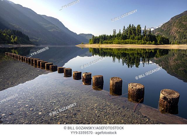 Views of Buttle Lake - Strathcona Provincial Park, near Campbell River, Vancouver Island, British Columiba, Canada
