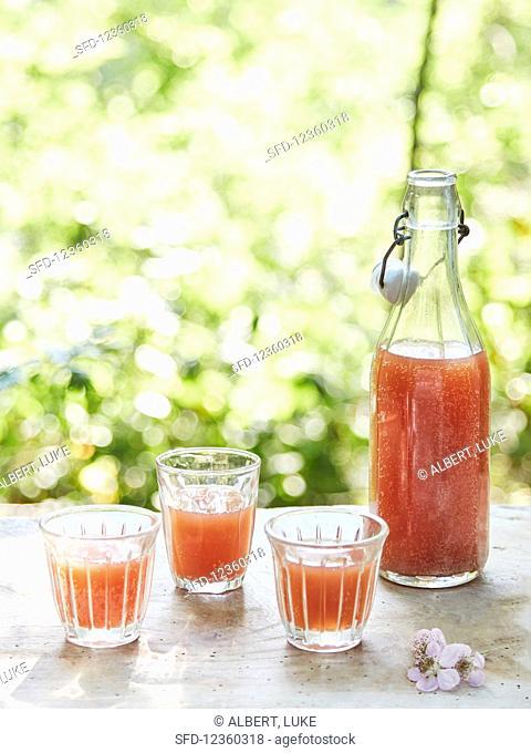 Fermented raspberry juice