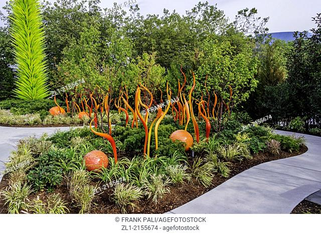 Garden,Dale Chihuly Garden and Glass.Seattle,Washington USA