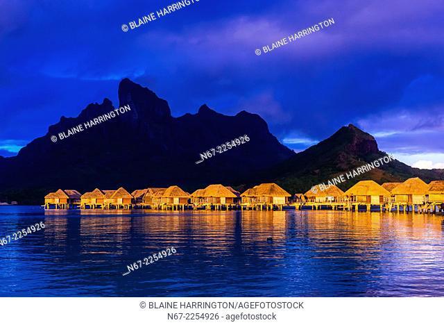 Overwater bungalows, Four Seasons Resort Bora Bora, French Polynesia