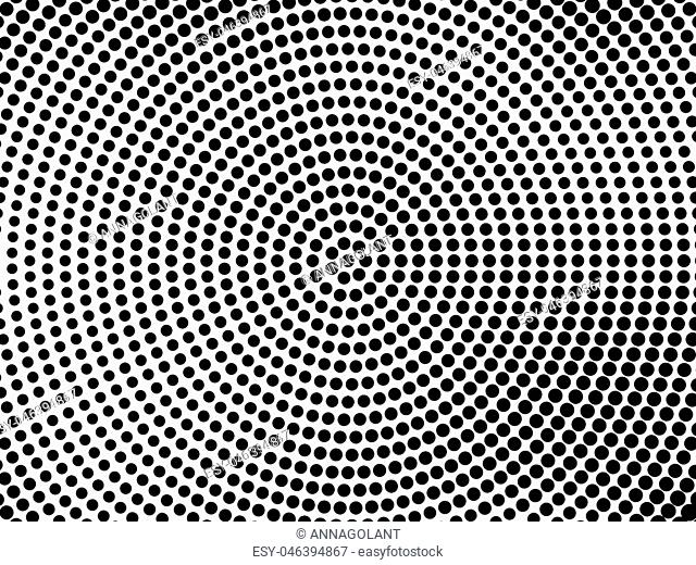 Abstract futuristic halftone pattern. Comic background. Dotted backdrop with circles, dots, point large scale. Design element for web banners, posters, cards