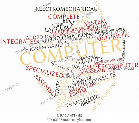 Abstract word cloud for Computer with related tags and terms