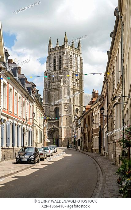 La Collégiale Saint-Pierre in Aire sur la Lys, Normandy, France dating from 1059