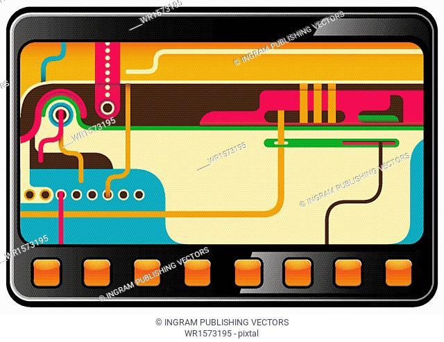 Colorul technology background