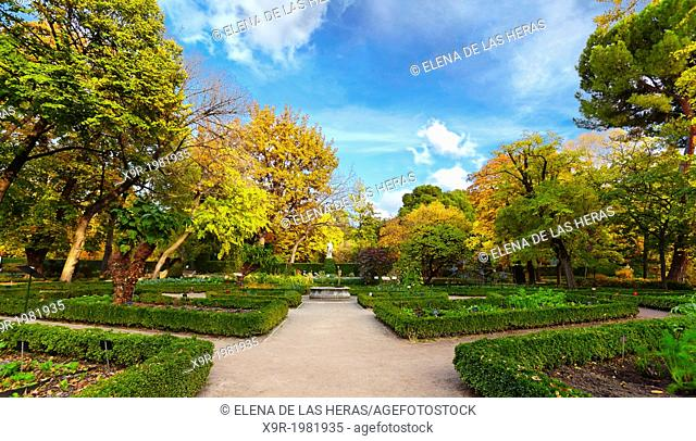Autumn at the Royal Botanical Garden. Madrid. Spain