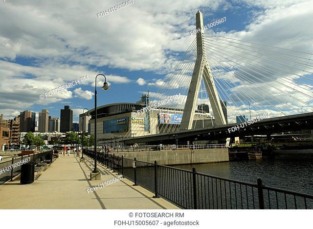 Boston, MA, Massachusetts, Downtown, Charles River Bridge, cable-stayed bridge, The Big Dig