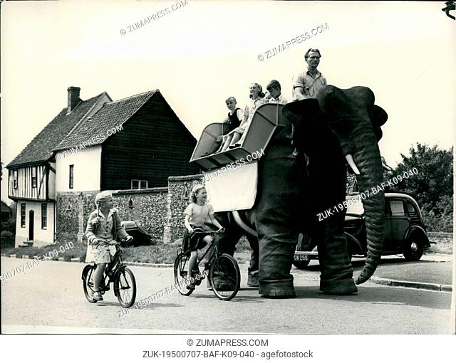 Jul. 07, 1950 - Introducing The World's First Robot Elephant It 'Walks At 28 Miles An Hour: Mr. Frank Stuart, a Scotsman has just completed the World's fist...
