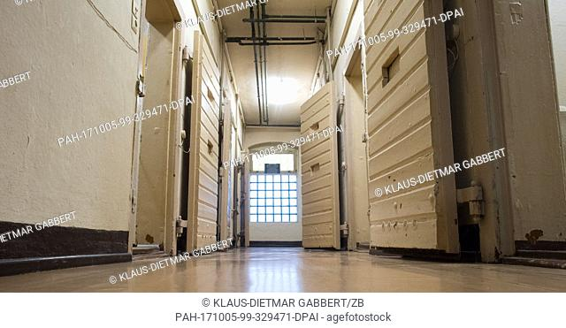 The cell block of the former detention centre Magdeburg-Neustadt in Magdeburg, Germany, 05 October 2017. Today the memorial documentation centre is to be found...