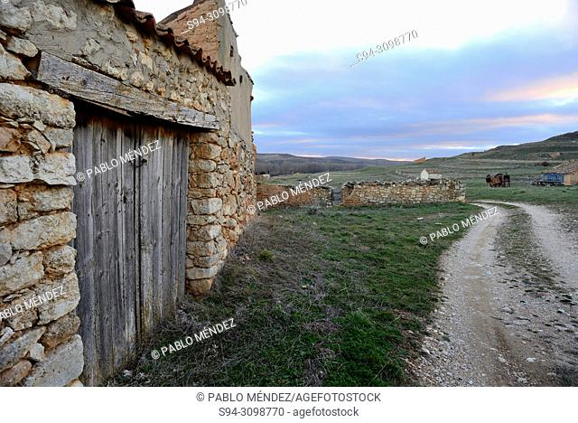 Rustic cabin in the meadows of Caltojar, Soria, Spain