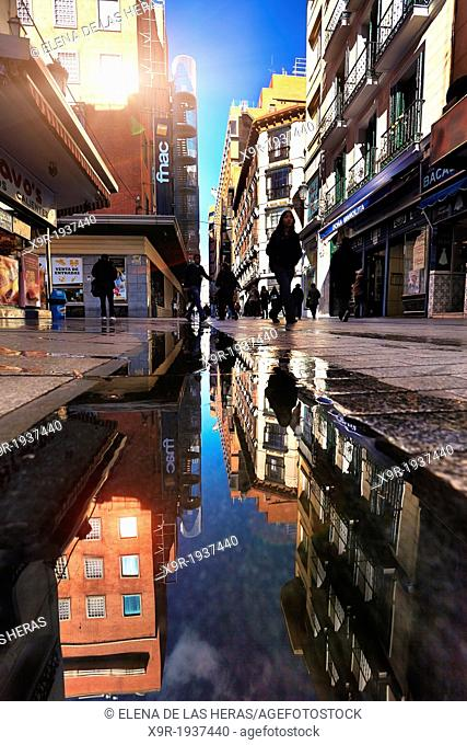 Carmen street near Puerta del Sol. Madrid. Spain