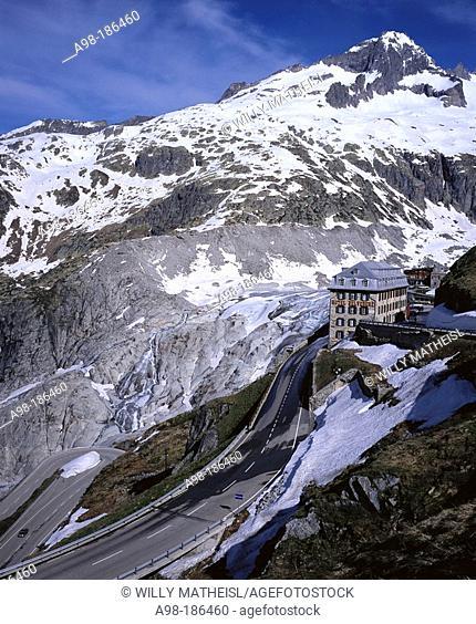 Rhone Glacier, Hotel Belvedere, Alps, Switzerland