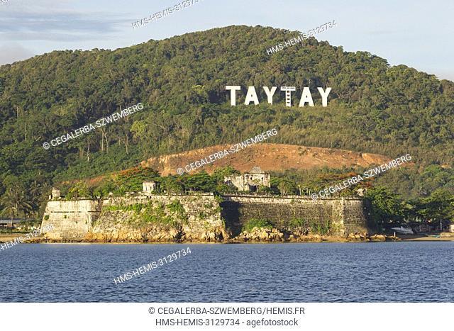 Philippines, Palawan, Taytay, 17th century Fort Santa Isabelle
