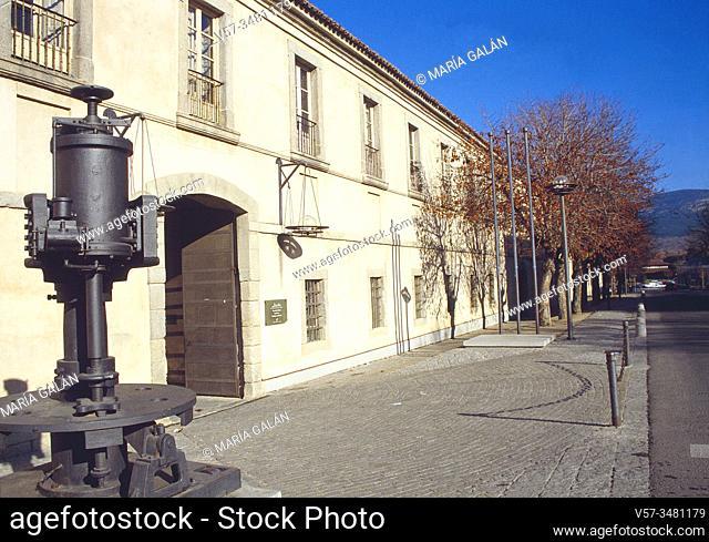 Facade of Real Fabrica de Vidrios. La Granja de San Ildefonso, Segovia province, Castilla Leon, Spain