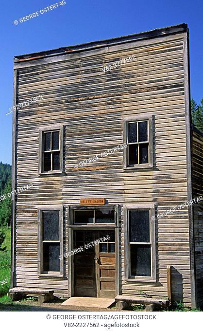 Kelly's Saloon, Garnet Ghost Town, Garnet Back Country Byway, Montana