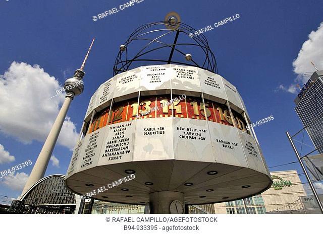 World Time Clock in Alexanderplatz, Berlin, Germany