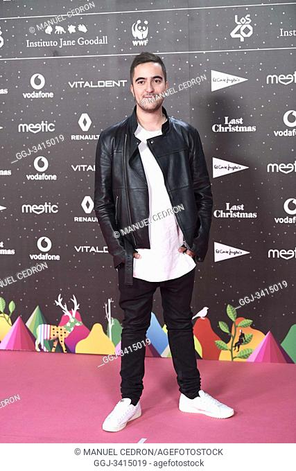 Beret attends Los 40 Music Awards at Wizink Center on November 8, 2019 in Madrid, Spain