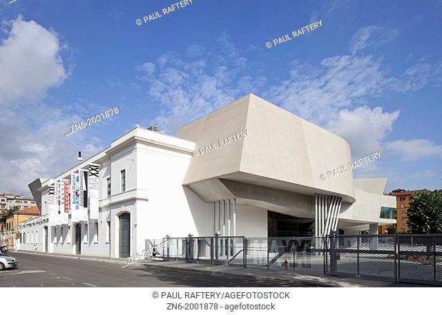 MAXXI National Museum of XXI Century Arts, Zaha Hadid, Rome, 2010, view from via Guido Reni