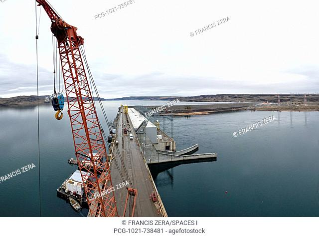 Orange Construction Crane