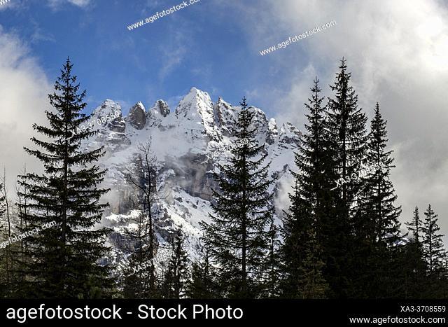 Cristallo mountain, Dolomites, Italian Alps