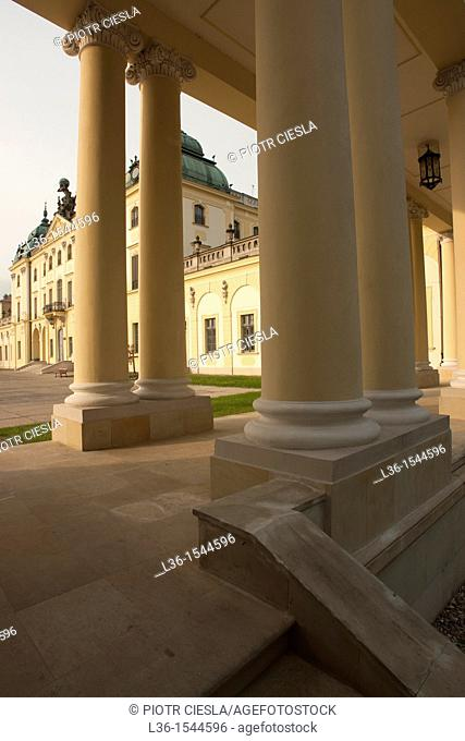 Branicki baroque palace from the XVIII century. Bialystok, Poland. Podlasie region