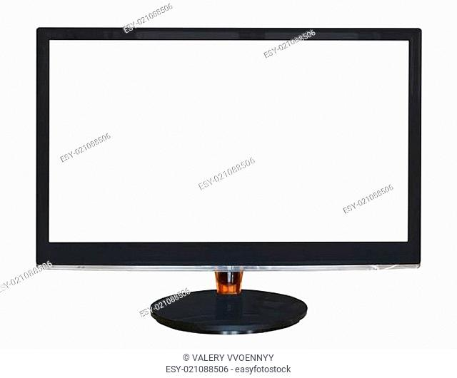 widescreen display with cut out screen isolated
