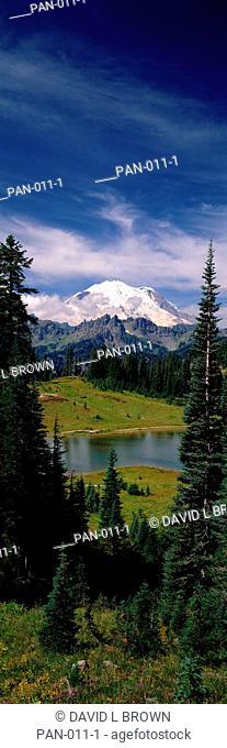 Tipsoo Lake and Mount Rainier, Washington, USA