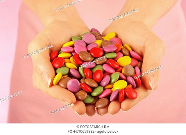 Woman Holding Smarties / M&M's