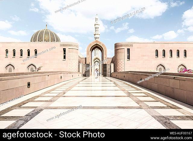 Oman, Muscat, Entrance of Sultan Qaboos Grand Mosque