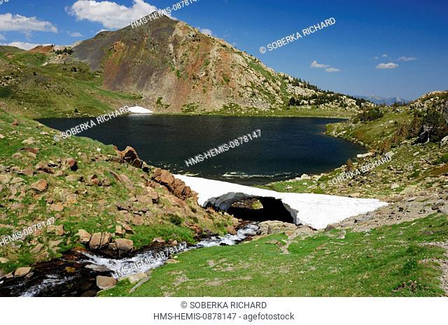 France, Pyrenees Orientales, Parc Naturel Regional des Pyrenees Catalanes (natural regional park of Pyrenees Catalanes), near Angoustrine Villeneuve des...