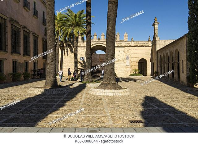 The Alcazar in Jerez de la Frontera, Cadiz province, Andalucia, Spain