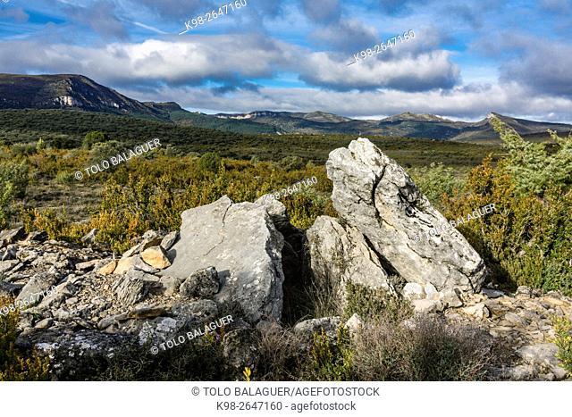 Dolmen de Pueoril - Dolmen de Puyurí-, III milenio antes de Cristo, ruta de los megalitos del alto Aragon, Paúles de Sarsa, Provincia de Huesca