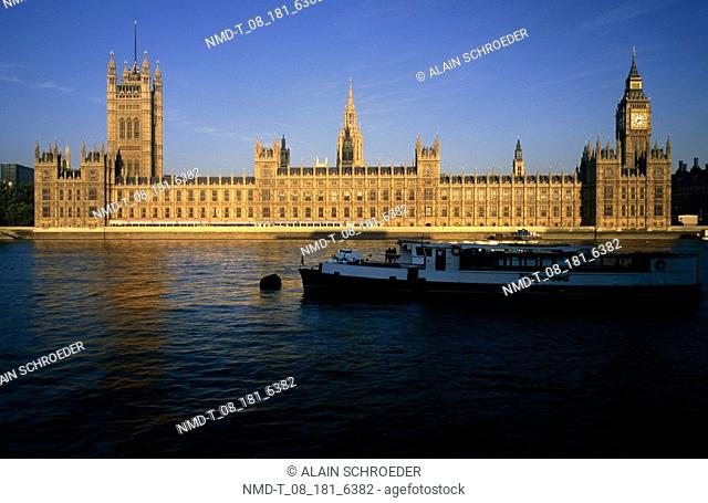 Government buildings at the waterfront, House Of Parliament, London, England