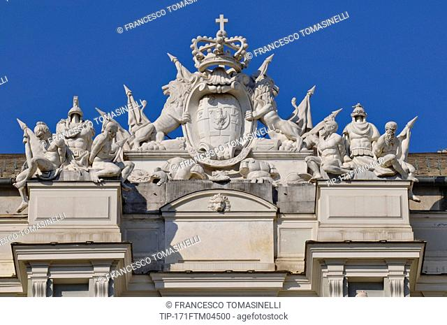 Italy, Liguria, Genoa, Palazzo Ducale, detail of the facade