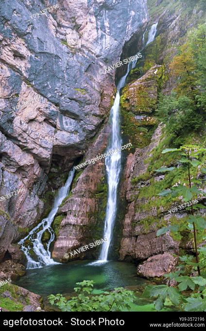 Savica Falls, Sava Bohinjka River, Bohinj, Slovenia