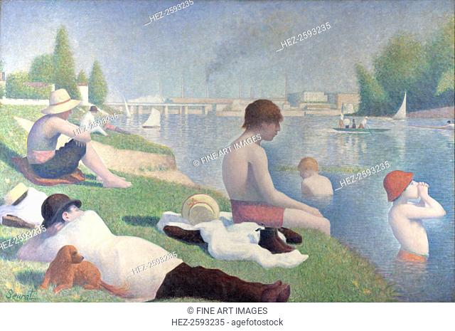 Bathers at Asnières (Baigneurs à Asnières), 1884. Found in the collection of the National Gallery, London