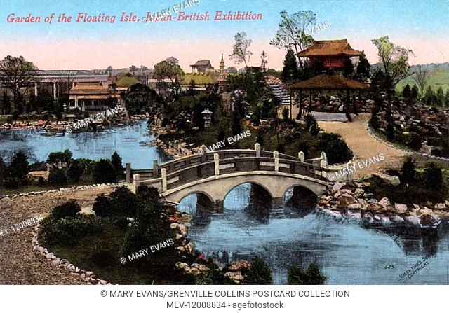 Garden of the Floating Isle - The Japan-British Exhibition of 1910 took place at White City, London in Great Britain from 14 May 1910 to 29 October 1910
