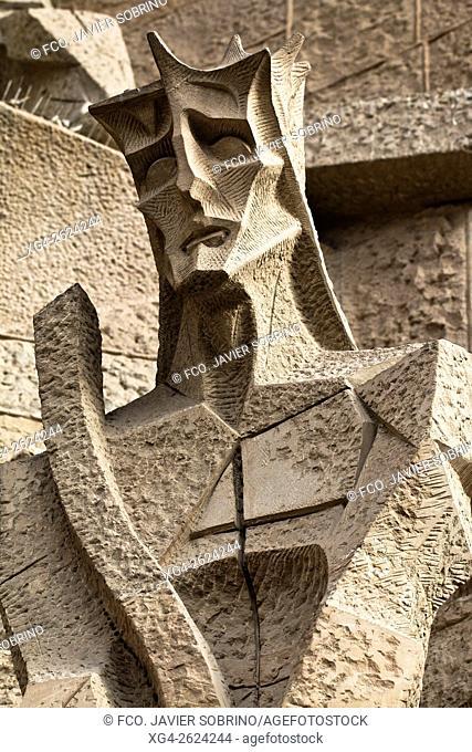 Fachada de la Pasión - El Juicio de Jesús - Sagrada Familia, Barcelona, Catalonia, Spain