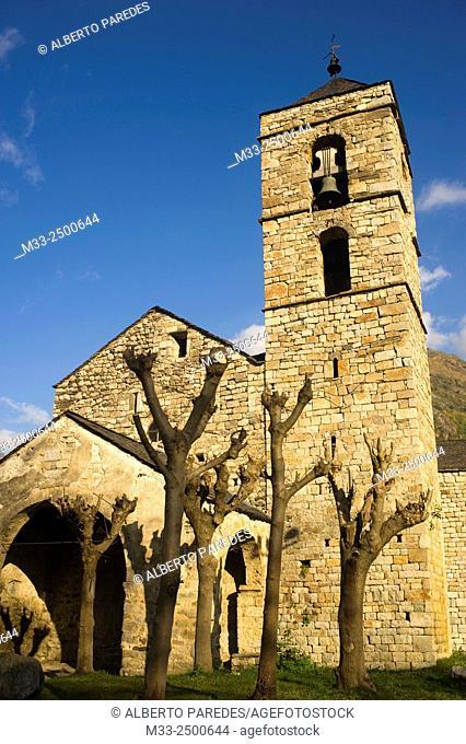 Sant Feliu de Barruera romanesque church. Vall de Boi, Lleida, Catalonia, Spain