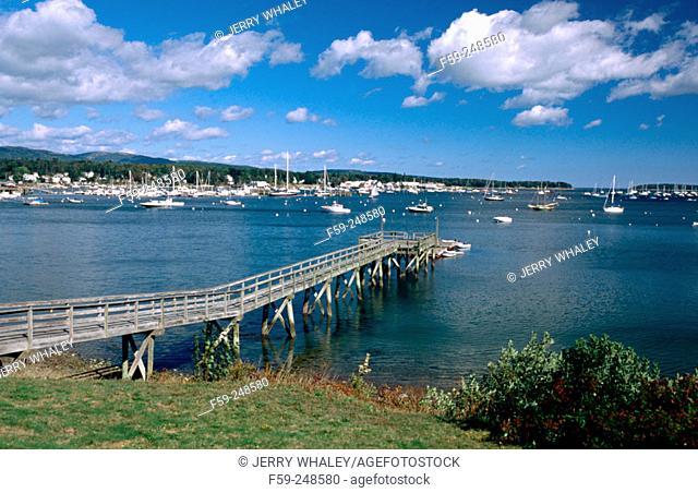 Southwest Harbor in Mount Dersert Island. Maine. USA
