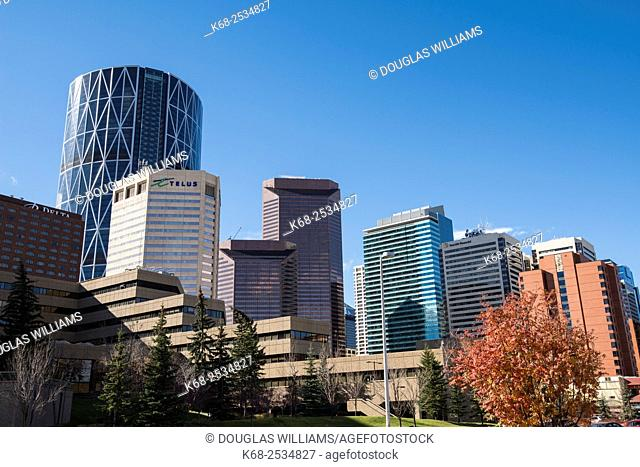 Office towers in downtown Calgary, Alberta, Canada