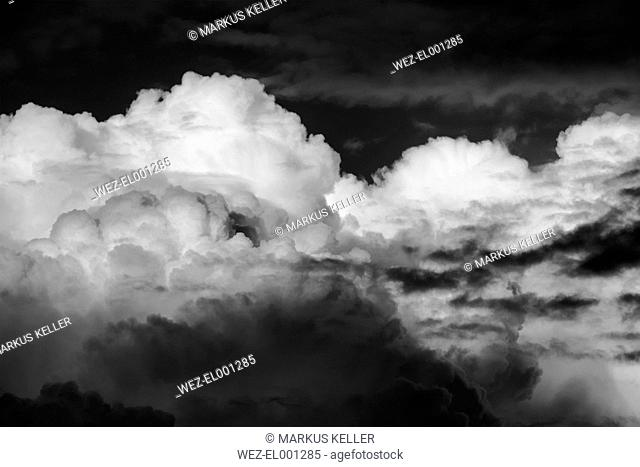 Germany, Cumulonimbus clouds