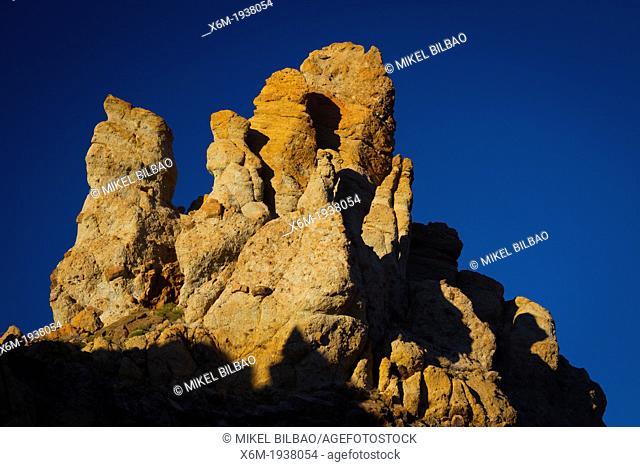 Rock formations. Teide National Park. Tenerife, Canary Islands, Atlantic Ocean, Spain