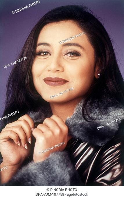 1999, Portrait Of Indian film actress Rani Mukerji