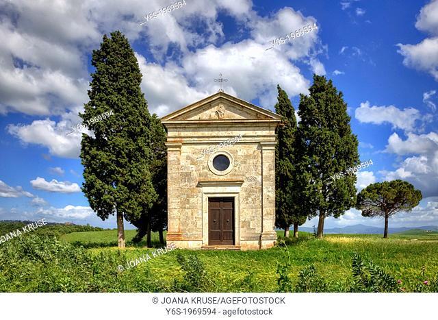 Cappella di Vitaleta, Pienza, Tuscany, Italy