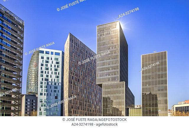 Barcelona City,Glorias Square District, skyline