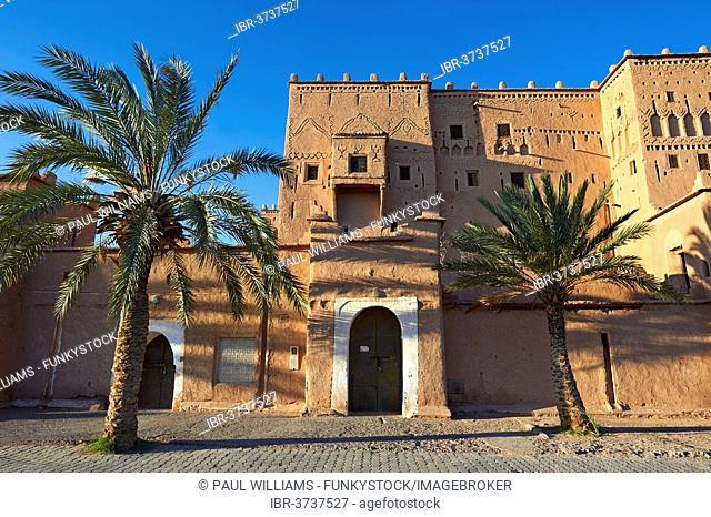 Mud brick Kasbah of Taourirt, UNESCO World Heritage Site, Ouarzazate, Ouarzazate Province, Morocco