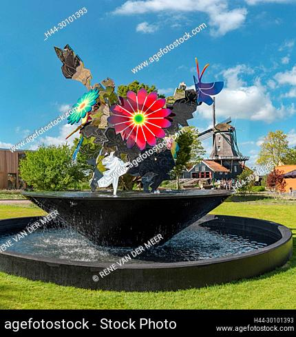 Sawmill called De Rat and the 11fountains - bloemenfountain