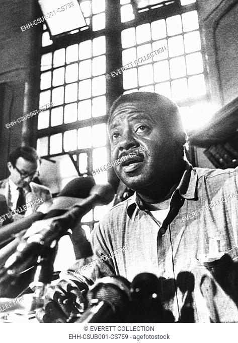 Rev. Ralph Abernathy, leader of the 'Poor Peoples Campaign' held a press conference from jail. June 27, 1968. On June 24
