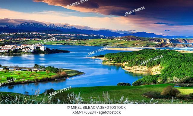 Mogro stuary in Pas river  Dunas de Liencres Natural Park, Cantabria, Spain